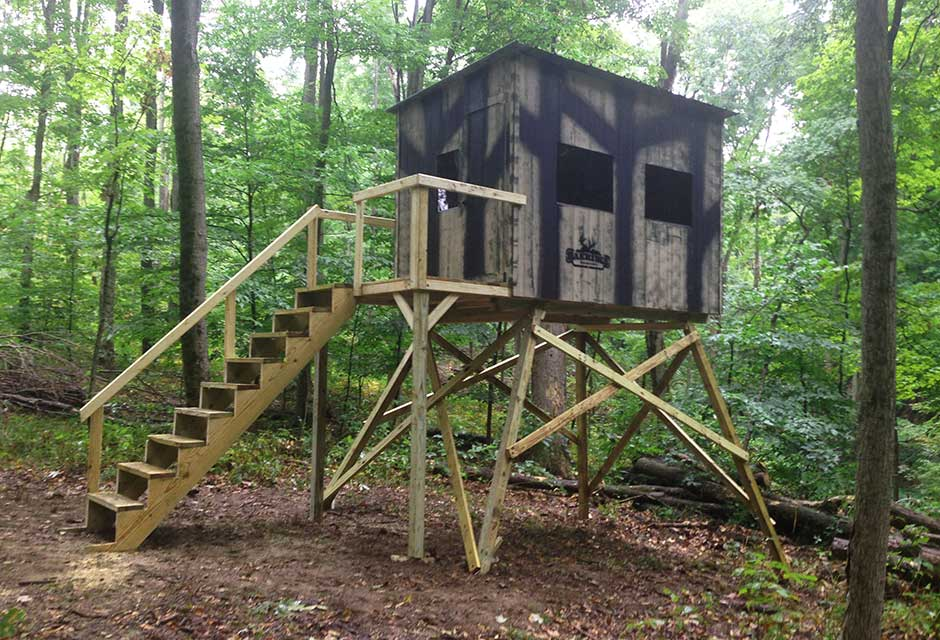 Side Entry Stairway And Porch Oakridge Hunting Blinds